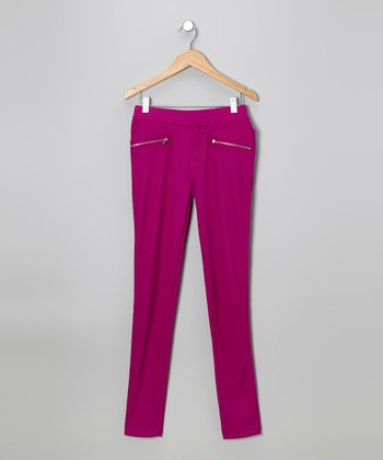 Plum Pocket Skinny Pants