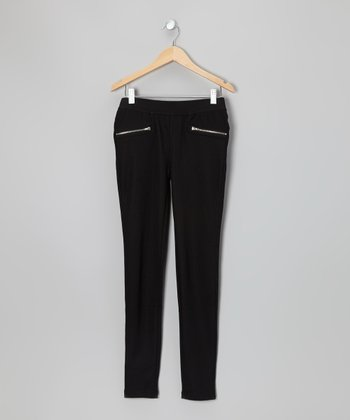 Black Pocket Skinny Pants