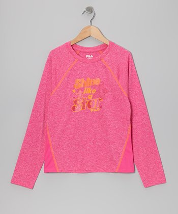 Pink & Orange 'Shine' Tee - Girls