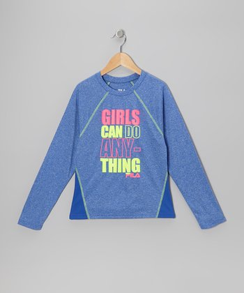 Blue 'Girls Can Do' Tee - Girls