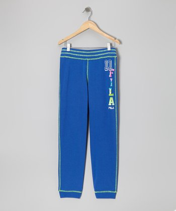 Dazzling Blue French Terry Sweatpants - Girls