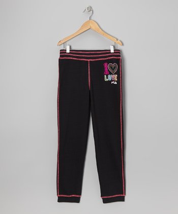 Black French Terry Sweatpants - Girls