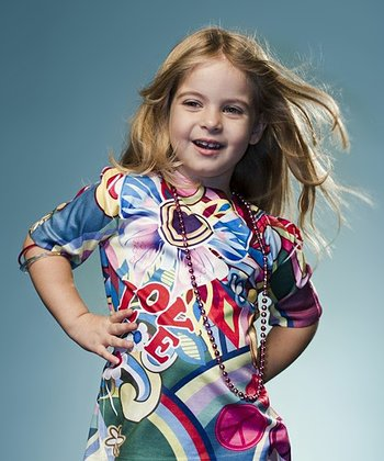 Blue Psychedelic Woodstock Tee - Toddler & Girls