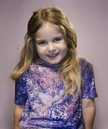 Purple Henna Tee - Toddler & Girls