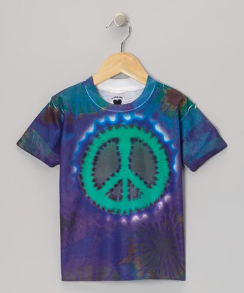 Purple Peace Sign Tee - Toddler & Girls