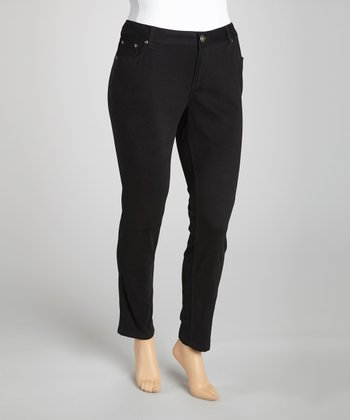 Black Denim Leggings - Plus