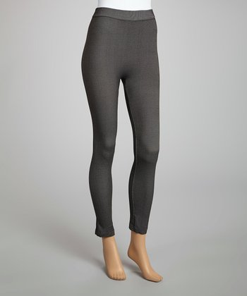 Black Faded Denim Leggings