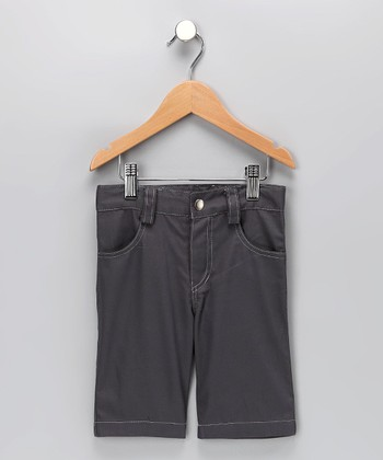 Charcoal Twill Jimmy Shorts - Infant, Toddler & Boys