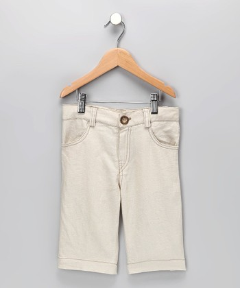 Natural Linen Jimmy Shorts - Infant, Toddler & Boys