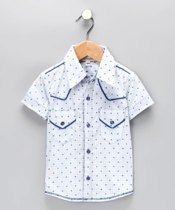 Blue Dot Button-Up Shirt - Infant, Toddler & Boys