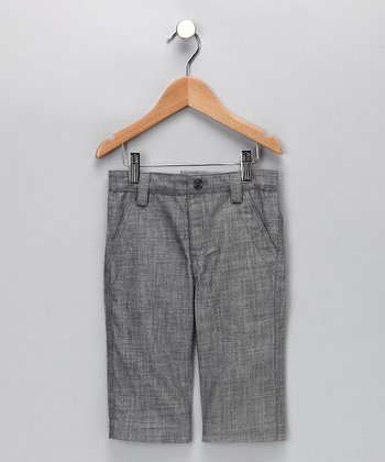 Gray Nigel Linen Shorts - Infant, Toddler & Boys
