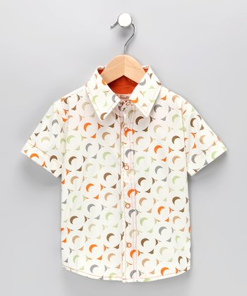 Moon Button-Up Shirt - Toddler & Boys