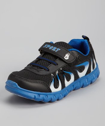Black & Blue Flame Running Shoe