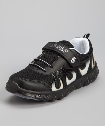 Black & White Flame Running Shoe