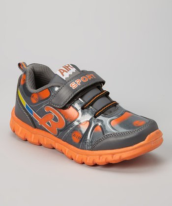 Gray & Orange Air Running Shoe