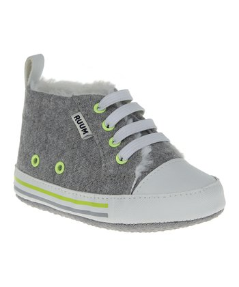 Heather Gray Baby Crib Sneaker