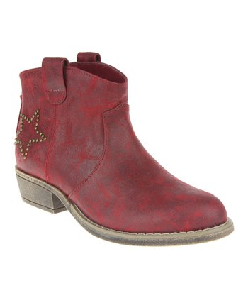 Red Western Ankle Boot
