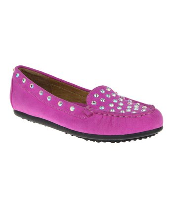 Parma Violet Jeweled Moccasin