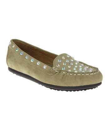 Sand Jeweled Moccasin