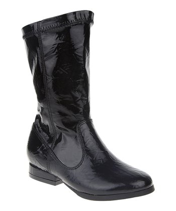 Black Patent Stretch Boot