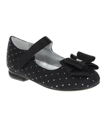 Black Quilted Bow Mary Jane