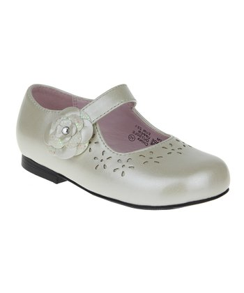 Pearl Eyelet Mary Jane