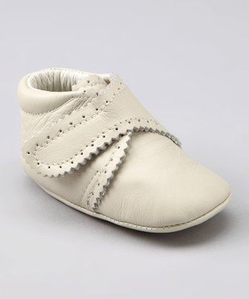 Bone White Scalloped Bootie