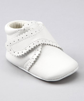 White Scalloped Bootie