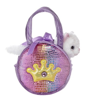 Purple Shimmery Crown Pet Carrier
