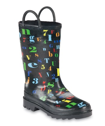 Black ABC-123 Storm Chief Rain Boot - Kids