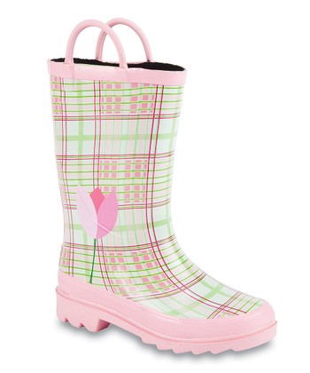 Pink Tulip Storm Chief Rain Boot - Kids