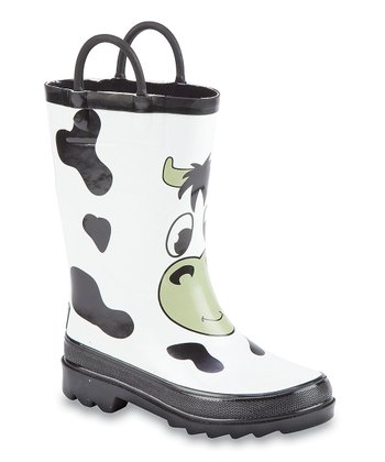 Black & White Cow Storm Chief Rain Boot