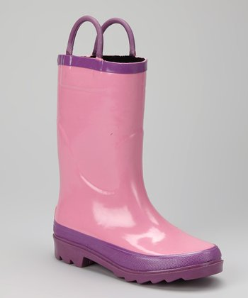 Pink Storm Chief Rain Boot - Kids