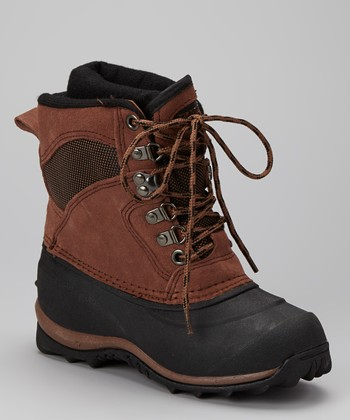 Brown Arctic Pac Boot - Kids