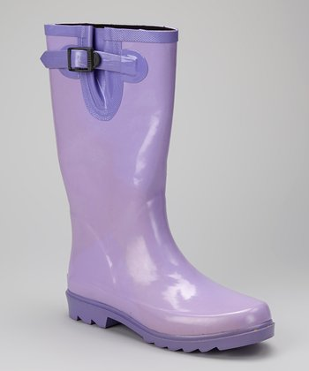 Purple Puddletons Rain Boot - Women
