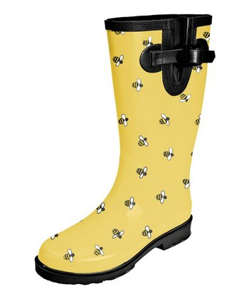 Yellow Bees Puddletons Rain Boot - Women
