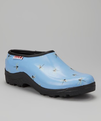 Light Blue Dragonfly Clog - Women