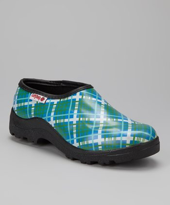 Green Plaid Clog - Women