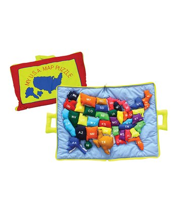 United States Plush Map Set