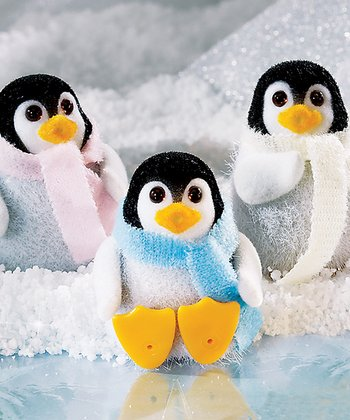 Fuzzy Penguin Friends Set