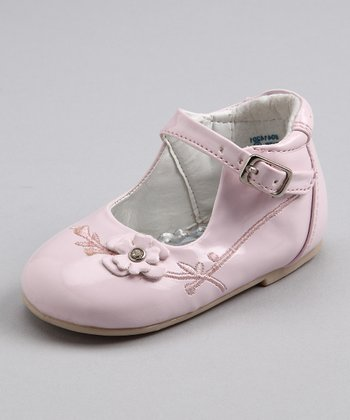 Pink Patent Flower Shoe