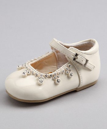 Bone Patent Diamond Drop Shoe