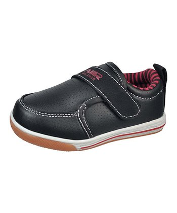 Black & Red Single-Strap Sneaker