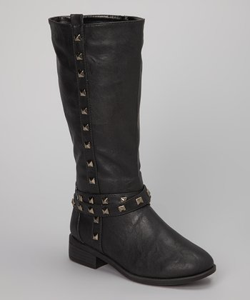 Black Cora Studded Boot