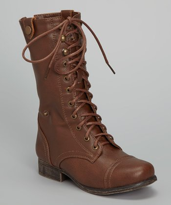 Chocolate Shorbie Lace-Up Boot