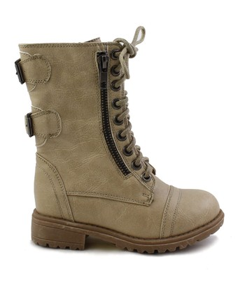 Taupe Rabby Lace-Up Boot