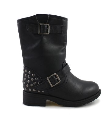 Black Rabby Studded Combat Boot