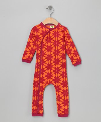 Raspberry & Marigold Flora Organic Playsuit - Infant