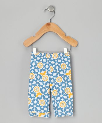 Blue Butterfly Organic Capri Pants - Infant
