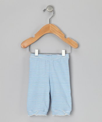 Cornflower Stripe Organic Capri Pants - Infant